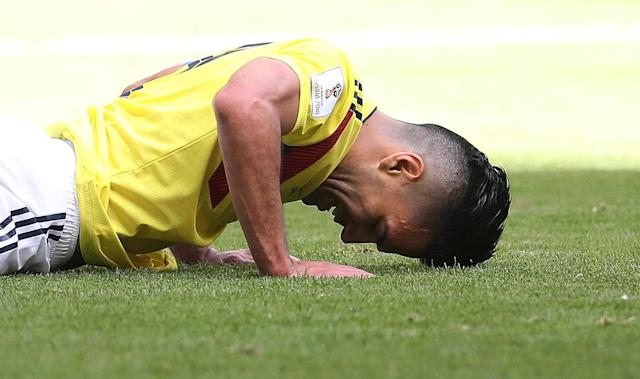 Soccer Football - World Cup - Group H - Colombia vs Japan - Mordovia Arena, Saransk, Russia - June 19, 2018 Colombia's Radamel Falcao reacts REUTERS/Ricardo Moraes TPX IMAGES OF THE DAY