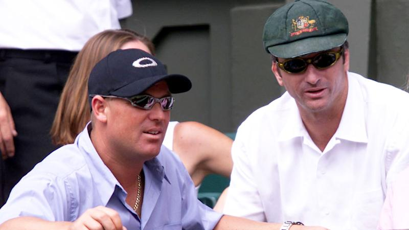 Seen here, Shane Warne and Steve Waugh are among the spectators at Wimbledon.