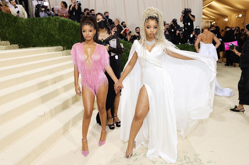 Chloe Bailey and Halle Bailey at the 2021 Met Gala