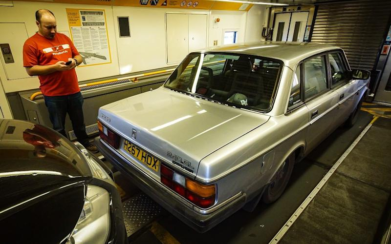 Rich Scott and his Volvo 240 GL