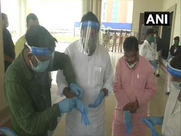 Arrangements made at the Jharkhand legislative assembly in the wake of COVID-19 pandemic.
