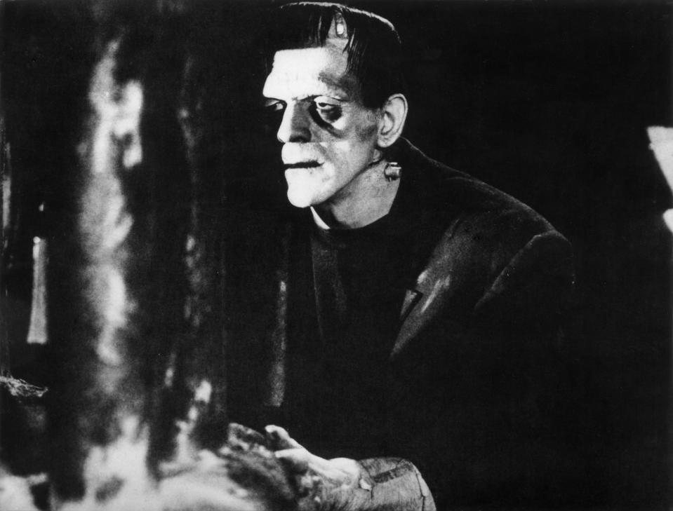 (Eingeschränkte Rechte für bestimmte redaktionelle Kunden in Deutschland. Limited rights for specific editorial clients in Germany.) Karloff, Boris - Actor, Great Britain - *23.11.1887-02.02.1969+ Scene from the movie 'Frankenstein' Directed by: James Whale USA 1931 Film Production: Universal Pictures Vintage property of ullstein bild (Photo by ullstein bild/ullstein bild via Getty Images)