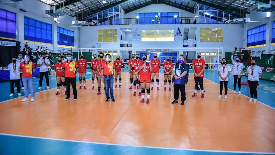 Petro Gazz Angels clinch bronze at the expense of Choco Mucho in the 2021 Premier Volleyball League (PVL) Open Conference. (Photo: PVL Media Bureau)