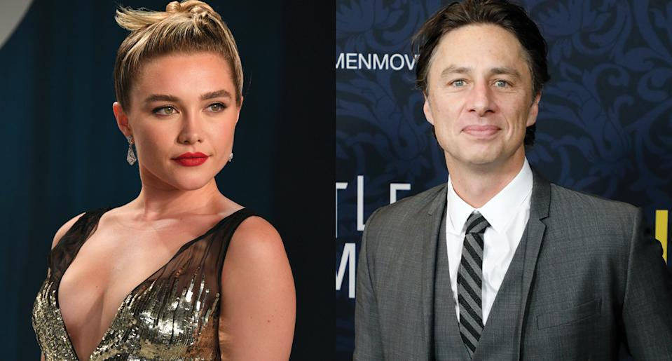 "Florence Pugh was ""embarrassed"" by the negative comments she received on her birthday post about Zach Braff. (Photo: Getty Images)"