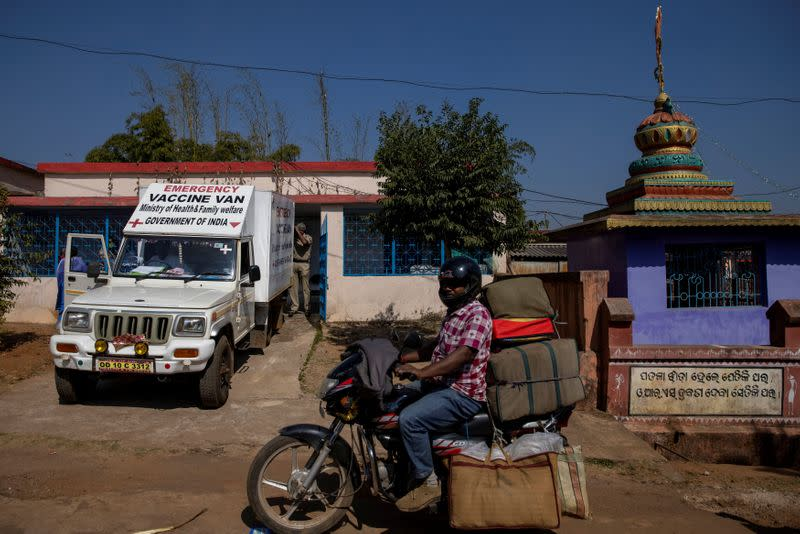 The Wider Image: The 1,700km journey to deliver coronavirus vaccine to India's rural health workers