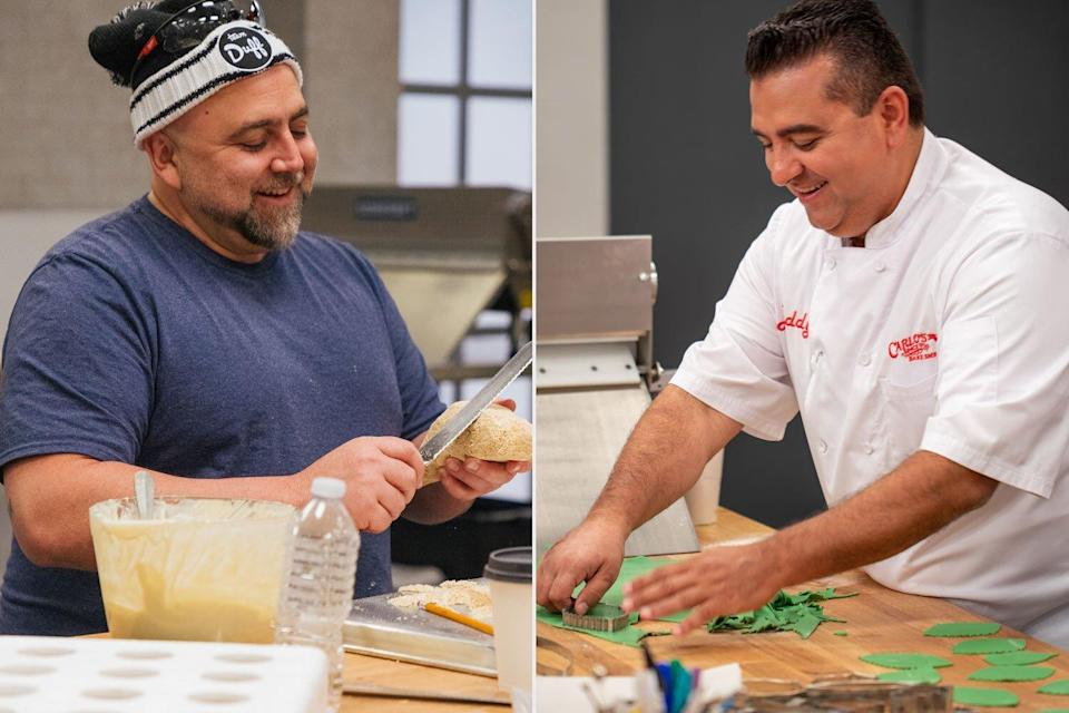 Buddy Valastro and Duff Goldman return to the cake competition after Valastro's hand surgery