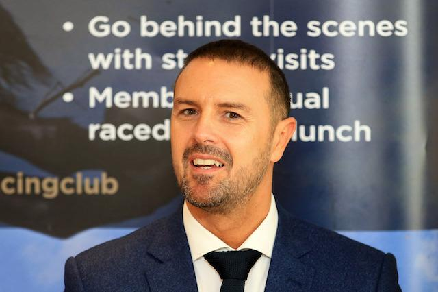 Paddy McGuinness attends the official launch of The Jockey Club Haydock Park Racing Club during 32Red Sprint Cup Day at Haydock Park Racecourse. PRESS ASSOCIATION Photo. Picture date: Saturday September 9, 2017. See PA story RACING Haydock. Photo credit should read: Clint Hughes/PA Wire