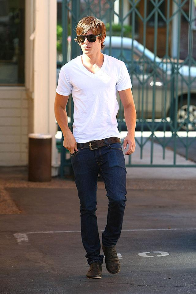 """Finally! Zac is back! We've been missing the """"High School Musical"""" hottie ever since he left L.A. for Utah to shoot the latest installment of his popular film franchise. Ben Tsui/<a href=""""http://www.splashnewsonline.com"""" target=""""new"""">Splash News</a> - July 1, 2008"""