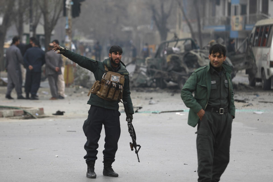 Image result for Afghanistan: Kabul shaken by two blasts, police vehicle targeted, 4 injured
