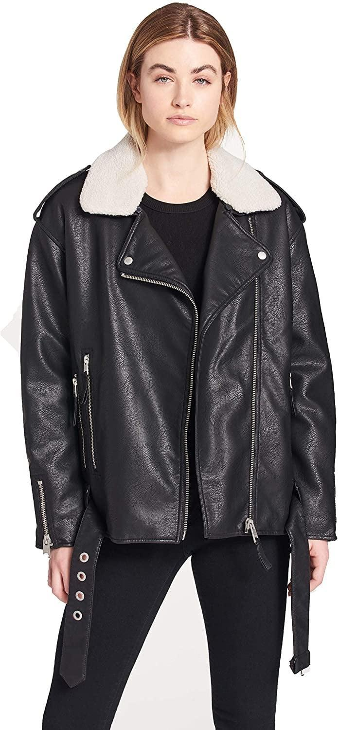 <p>You'll feel so confident and edgy in this ultra-cool <span>Levi's Oversized Faux Leather Motorcycle Jacket</span> ($66 - $103).</p>