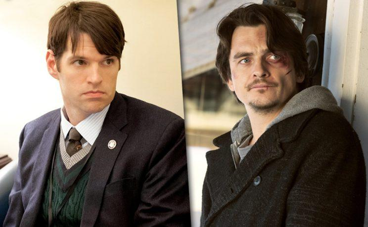 Tim Simons as Jonah Ryan on Veep pictured next to Rupert Friend as Peter Quinn on Homeland.