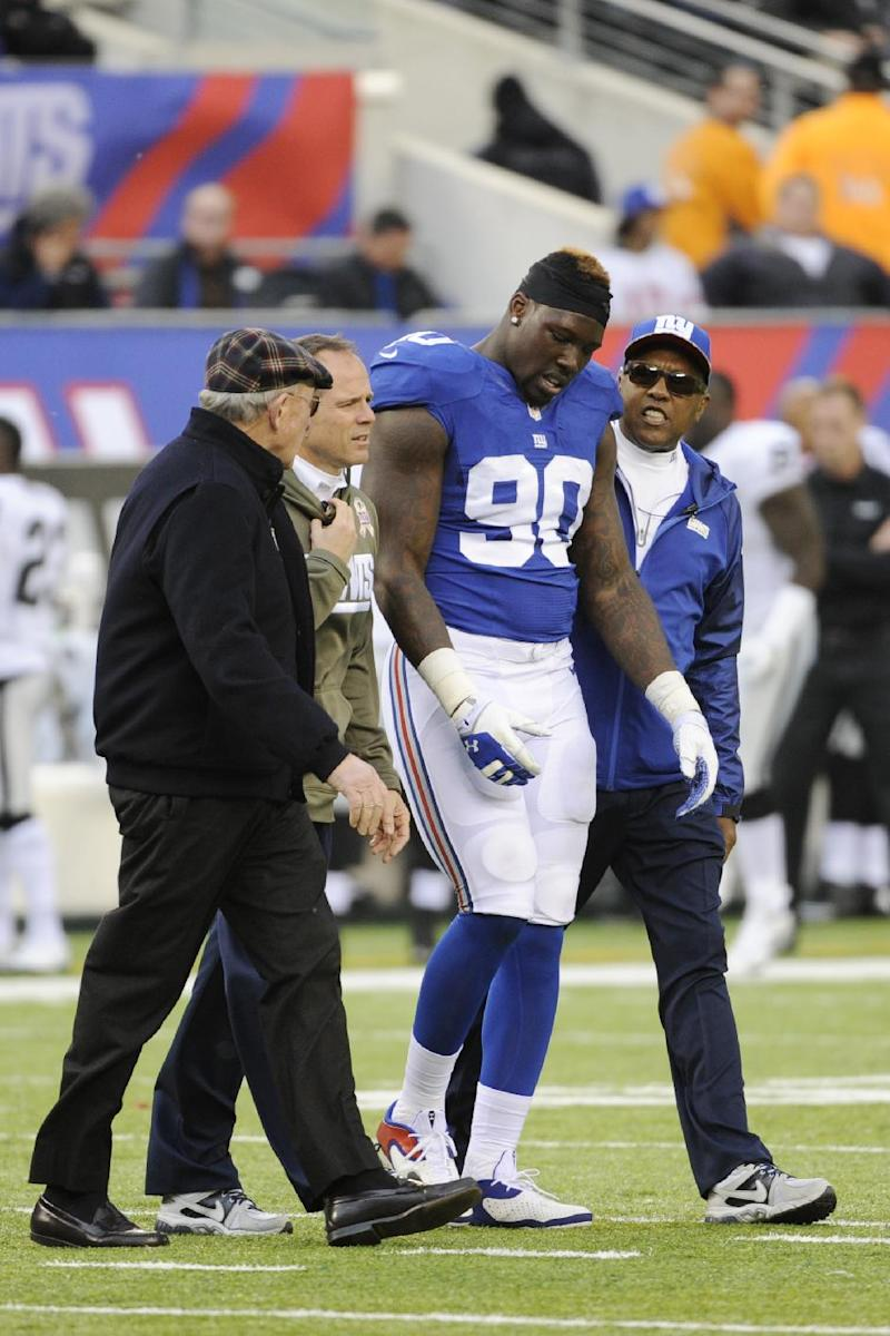 Pierre-Paul, Jacobs out for Giants at Redskins
