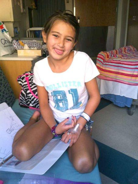 PHOTO: Bella Pacini the day she received her initial diagnosis. (Courtesy Tracy Pacini)