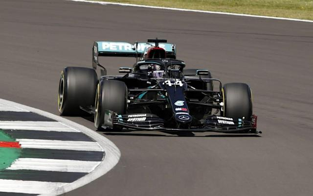 British Formula One driver Lewis Hamilton of Mercedes-AMG Petronas in action during the qualifying session of the British Formula One Grand Prix in Silverstone, Britain, 01 August 2020. - Andrew Boyers/Pool/EPA-EFE/Shutterstock