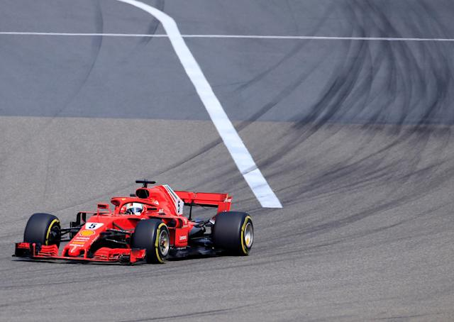 Formula One F1 - Chinese Grand Prix - Shanghai International Circuit, Shanghai, China - April 15, 2018 Ferrari's Sebastian Vettel in action during the race REUTERS/Aly Song