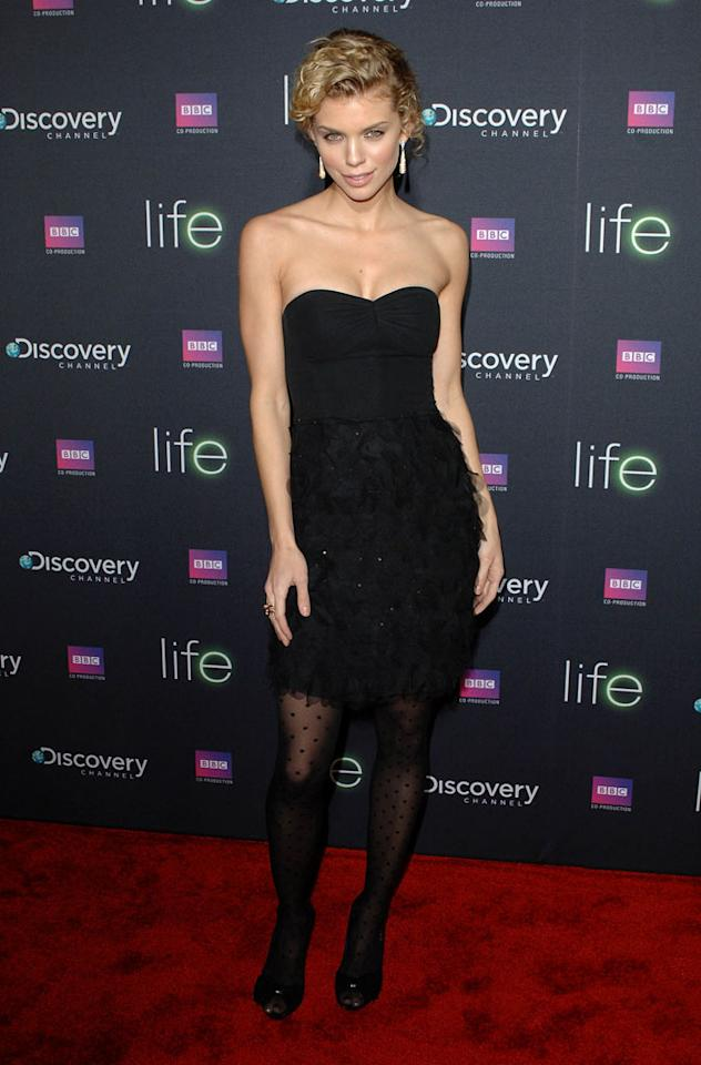 "<a href=""/annalynne-mccord/contributor/2204399"">AnnaLynne McCord</a> arrives arrives at Discovery Channel's Los Angeles Screening of <a href=""/life/show/44198"">""Life""</a> at the Getty Center on February 25, 2010."
