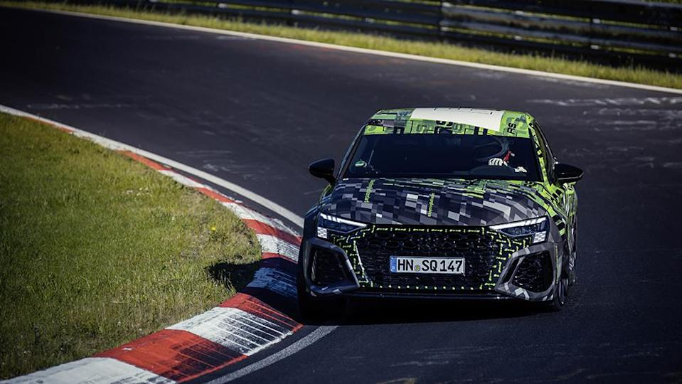 The RS3 can hit 180 mph at full tilt. - Credit: Audi