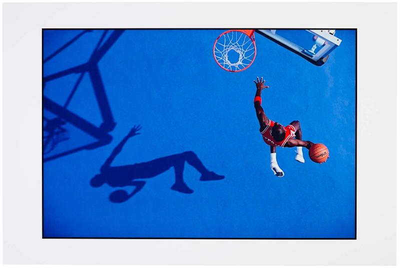Walter Iooss Jr., Michael Jordan, Blue Dunk, Lisle, IL, 1987
