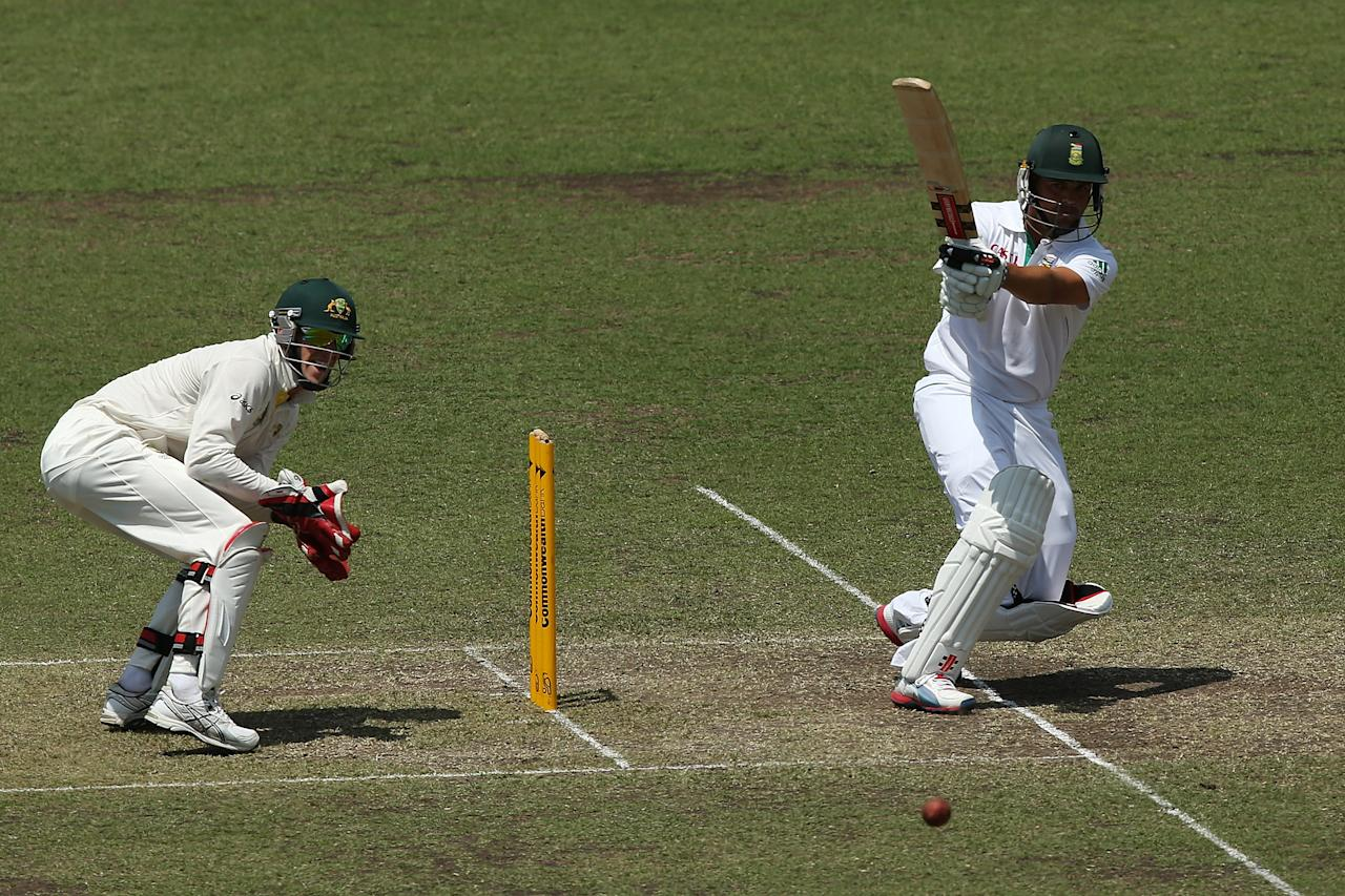 SYDNEY, AUSTRALIA - NOVEMBER 04:  Jacques Rudolph of South Africa bats during day three of the International Tour Match between Australia A and South Africa at Sydney Cricket Ground on November 4, 2012 in Sydney, Australia.  (Photo by Chris Hyde/Getty Images)