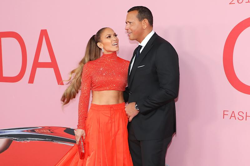 NEW YORK, NY - JUNE 03: Jennifer Lopez and Alex Rodriguez attend the 2019 CFDA Awards at The Brooklyn Museum on June 3, 2019 in New York City. (Photo by Taylor Hill/FilmMagic)
