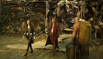 <p>The trio emerges from ship wreckage. (Photo: Marvel) </p>