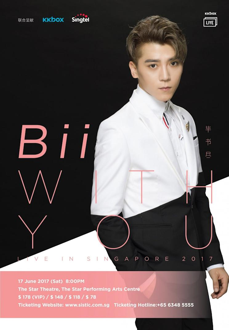 Bii With You LIVE in Singapore concert poster (Photo: KKBOX, Singtel)