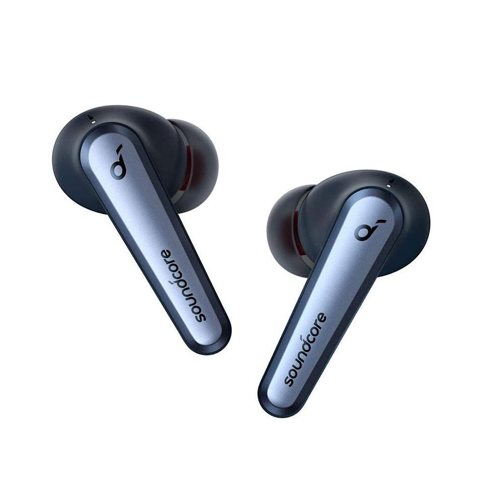 """<p><strong>Soundcore</strong></p><p>amazon.com</p><p><strong>$129.99</strong></p><p><a href=""""https://www.amazon.com/dp/B08G4HSVJL?tag=syn-yahoo-20&ascsubtag=%5Bartid%7C2089.g.37199069%5Bsrc%7Cyahoo-us"""" rel=""""nofollow noopener"""" target=""""_blank"""" data-ylk=""""slk:Shop Now"""" class=""""link rapid-noclick-resp"""">Shop Now</a></p><p>The Soundcore Liberty Air 2 Pro wireless earbuds by Anker are an excellent alternative to the Apple AirPods and make the perfect splurge accessory for the new school year. The true wireless earbuds have a durable design, a comfy fit, top-tier sound, and dependable noise cancellation. Plus, they come in several colors for your kid to choose from.</p>"""