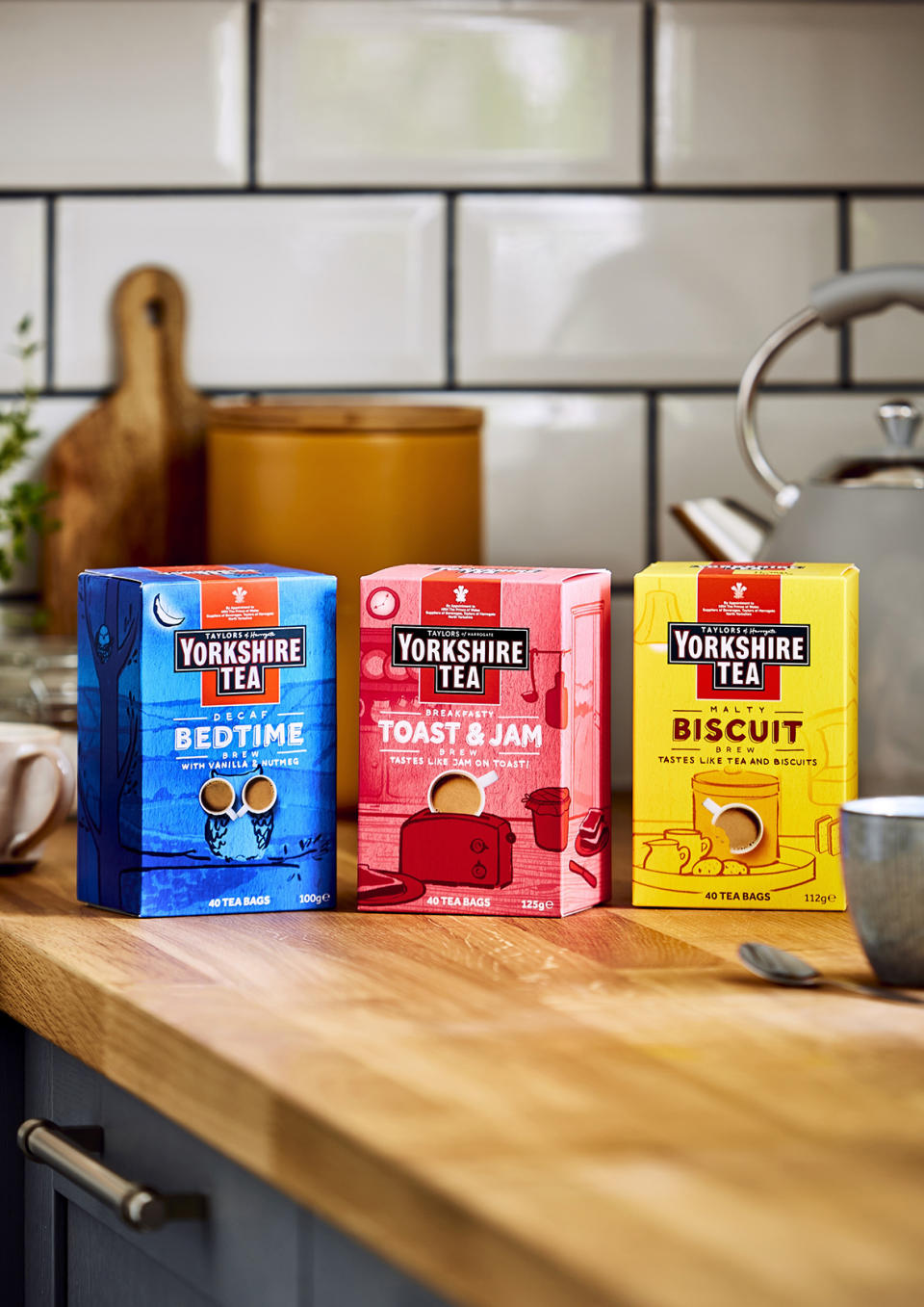 The new Toast & Jam brew joins the biscuit and bedtime teas. (Yorkshire Tea)