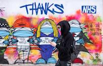 LONDON, UNITED KINGDOM - 2021/01/17: A 'Thanks NHS' graffiti seen in London. (Photo by May James/SOPA Images/LightRocket via Getty Images)