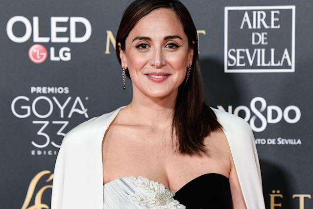 SEVILLE, SPAIN - FEBRUARY 02: Tamara Falco attends the Goya Cinema Awards 2019 during the 33rd edition of the Goya Cinema Awards at Palacio de Congresos y Exposiciones FIBES on February 02, 2019 in Seville, Spain. (Photo by Carlos Alvarez/Getty Images)