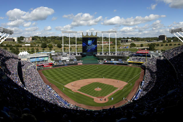 """The sale of the <a class=""""link rapid-noclick-resp"""" href=""""/mlb/teams/kansas-city/"""" data-ylk=""""slk:Kansas City Royals"""">Kansas City Royals</a> will not be made official until it's ratified by the other 29 ownership groups in November. (AP)"""