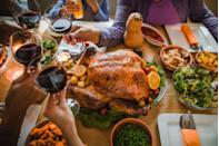 """<p>Oregonians are big on a full turkey dinner for Christmas, regardless of having just done one for Thanksgiving—do I have to tell you why that's so iconic?</p><p>Get the <a href=""""https://www.delish.com/holiday-recipes/thanksgiving/a55338/best-oven-roast-turkey-recipe/"""" rel=""""nofollow noopener"""" target=""""_blank"""" data-ylk=""""slk:recipe"""" class=""""link rapid-noclick-resp"""">recipe</a>.</p>"""