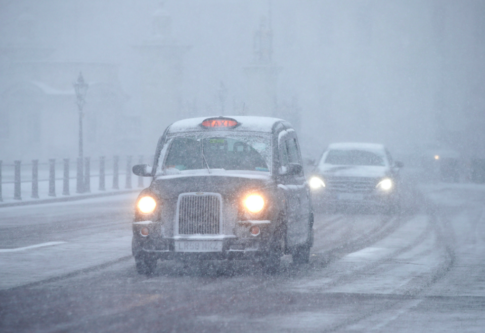 <em>Driving conditions for motorists in London are dangerous and people are advised only to take to the roads if absolutely necessary (PA)</em>