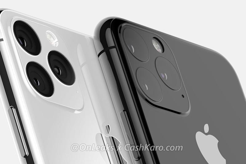 Leaked renders of the next iPhone point to it having three cameras on the back (@OnLeaks x CashKaro)