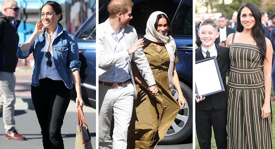 Meghan Markle's outfits on day two. [Photo: Getty]