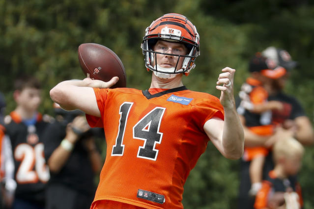 Andy Dalton, approved for use for desperate fantasy players. (AP Photo/John Minchillo)