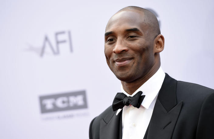 Kobe Bryant posthumously received the Governors award. (Photo by Chris Pizzello/Invision/AP)