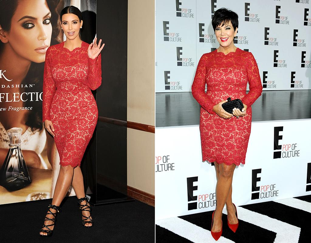NEW YORK, NY - APRIL 22: TV personality Kris Jenner attends the E! 2013 Upfront at The Grand Ballroom at Manhattan Center on April 22, 2013 in New York City. (Photo by Jennifer Graylock/Getty Images) LONDON, UNITED KINGDOM - MAY 18: Kim Kardashian launches her new frangrance 'True Reflection' at Debenhams on May 18, 2012 in London, England. (Photo by Jon Furniss/WireImage)