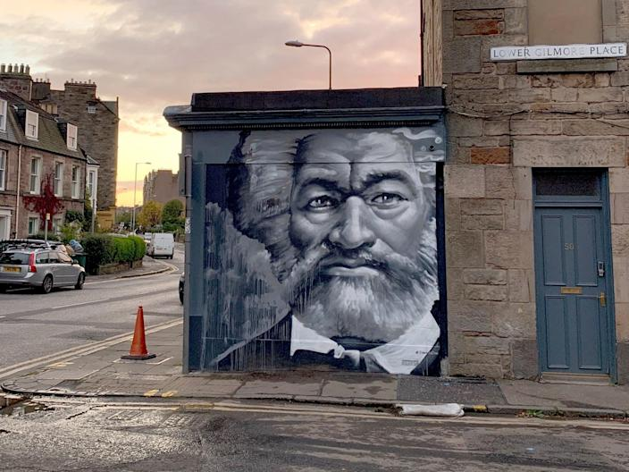 Mural is near to where abolitionist stayed while in Edinburgh (Melissa Highton)