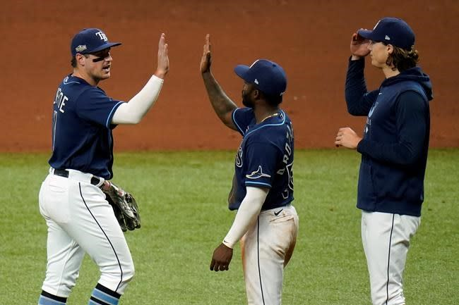Renfroe slam helps Rays sweep young Blue Jays in 1st round