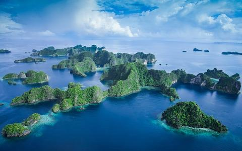 The islands from the sky - Credit: GETTY