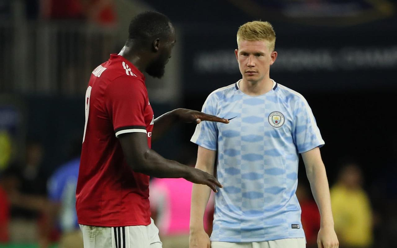 """Romelu Lukaku will make a mockery of the critics questioning his £90 million transfer fee and guarantee 25 goals for Manchester United next season, according to his Belgium team-mate Kevin De Bruyne. Lukaku scored a stunning second goal in three games for United in an impressive 2-0 victory over derby rivals Manchester City in Houston on Friday, when he left City's new goalkeeper Ederson Moraes red faced. Beating Ederson to the ball just outside the penalty area after the City No1 had inexplicably rushed out to try to clear the ball, Lukaku was forced wide but finished brilliantly from atightangleto put United in front before Marcus Rashford added a second two minutes later. Lukaku and Rashford have hit it off quickly as United manager Jose Mourinho prepares to employ a two-pronged strike-force next season. And City midfielder De Bruyne, fresh from watching his compatriot steal the show in Houston, believes Lukaku will show why United agreed to pay Everton an initial £75 million rising to a potential £90 million world record fee for the Belgian. Lukaku and De Bruyne are international team-mates Credit: Getty images """"I think he will do very well,"""" De Bruyne said. """"Everyone knows what his qualities are and he will do what he has to do. There's a lot said about these big transfers, people mock him and other players on social media. You know it's there but you just can't care about that. """"You just have to do your job and I think he will score 20 to 25 goals for United a season and that will speak for itself. """"If you see his ratio of goals, it's incredible. He's one of the best in the world and what is he, 24? You can say that about him at that age. Lukaku races past Man City goalkeeper Ederson before putting United ahead Credit: AP """"Obviously he has his way of playing. Don't compare him to a Messi dribbling past players. He's a big physical guy and can be awesome."""" United executive vice chairman Ed Woodward met up with Mourinho in Los Angeles on Friday for the first tim"""