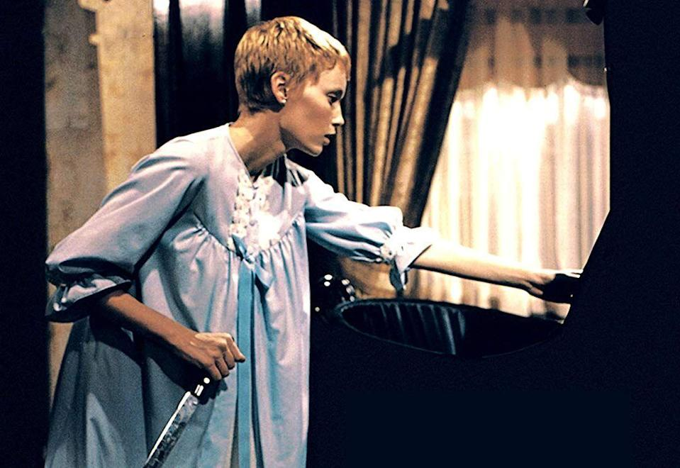 """<p><strong><em>Rosemary's Baby</em></strong></p><p>The psychological supernatural film tells the story of a young expecting mother's descent into madness, provoked by an evil cult set on taking her baby.<br></p><p><a class=""""link rapid-noclick-resp"""" href=""""https://www.amazon.com/Rosemarys-Baby-Mia-Farrow/dp/B002O2IPP4/?tag=syn-yahoo-20&ascsubtag=%5Bartid%7C10055.g.29120903%5Bsrc%7Cyahoo-us"""" rel=""""nofollow noopener"""" target=""""_blank"""" data-ylk=""""slk:WATCH NOW"""">WATCH NOW</a></p>"""