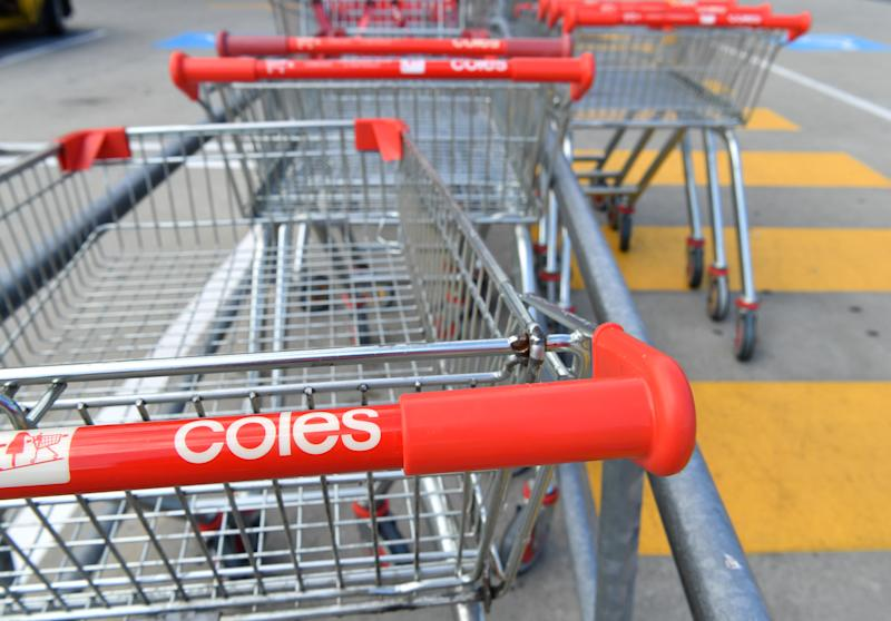 Coles has brought back buying limits, after a slight surge in demand in Victoria amid coronavirus outbreaks. Source: AAP