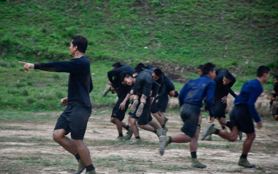 Military training conducted by the Karenni National Progressive Party (KNPP) ethnic rebel group