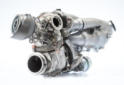 BorgWarner's regulated two-stage (R2S®) turbocharging system reduces emissions significantly.