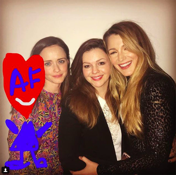 "<p>A <i>Sisterhood of the Traveling Pants</i> reunion without America Ferrera is no reunion at all, so Mrs. Ryan Reynolds did some doodling to add her, alongside Alexis Bledel and Amber Tamblyn, in this throwback. FTR, America ""liked"" it, responding with a wink, ""You're like a professional portrait drawer. I was so confused about how I got into that pic!"" (Photo: <a rel=""nofollow"" href=""https://www.instagram.com/p/BX6x8t3ganP/?hl=en&taken-by=blakelively"">Blake Lively via Instagram</a>) </p>"