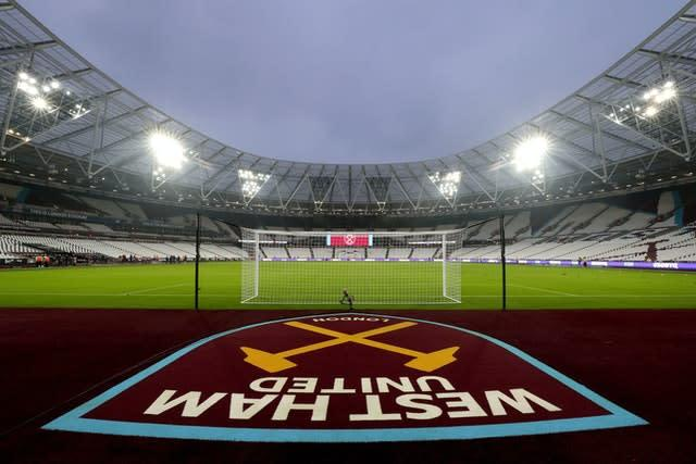 Brady's West Ham have a home match against Wolves when the action resumes (PA)