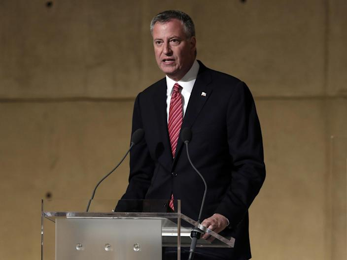 New York Mayor, Bill de Blasio, has had to cancel a planned holiday to Italy to ensure a thorough investigation into the death takes place (Getty Images)