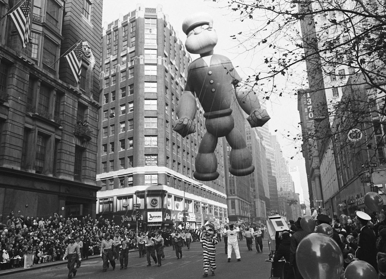 <p>The balloons used to be released intentionally post-parade, with specific valves even being introduced in 1929 so they could float for days before landing. A monetary reward and gifts were given to those who returned the deflated balloons to Macy's (they were fitted with return labels). According to TIME magazine, the tradition was discontinued in 1932 after a balloon interfered with a passing plane in 1932, causing it to tailspin.</p>
